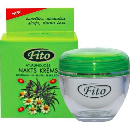 Крем ночной восстанавливающий для нормальной и сухой кожи лица FITO