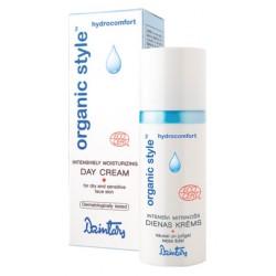 Интенсивно увлажняющий дневной крем для сухой и чувствительной кожи лица Organic Style hydrocomfort  (Dzintars)
