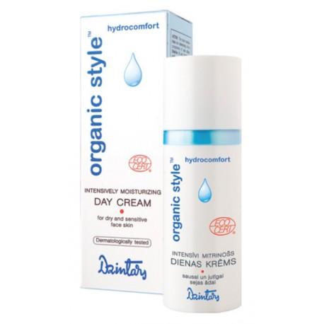 Интенсивно увлажняющий дневной крем для сухой и чувствительной кожи лица Organic Style hydrocomfort