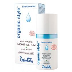 Увлажняющая ночная сыворотка для жирной кожи лица Organic Style hydrocomfort