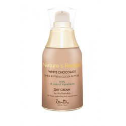 Дневной крем для сухой кожи лица - Nature's Recipe Белый шоколад