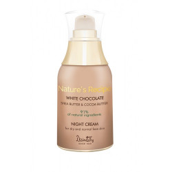 Ночной крем для сухой и нормальной кожи лица - Nature's Recipe Белый шоколад (Dzintars)