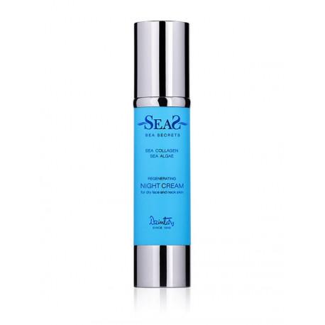 Регенерирующий ночной крем для сухой кожи лица и шеи - Sea Secrets