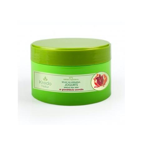 Йогурт для лица и тела с ароматом граната для любого типа кожи KREDO NATUR