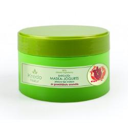 Питательная маска – йогурт для любого типа волос с ароматом граната KREDO NATUR