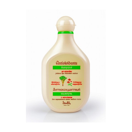Keratinový šampon pro barvené vlasy: jakéhokoli typu - Antioxidační série